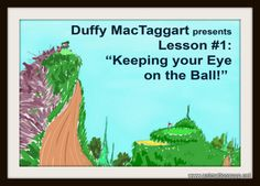 A title card idea that I initially liked, but scrapped for the one with Duffy MacTaggart up close.