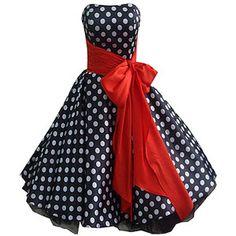50's inspired polka dot dress!