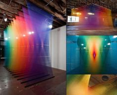 Gabriel Dawe's Prismatic Installations 22 Dreamy Art Installations You Want To Live In Artistic Installation, Light Installation, Art Installations, Corporative Events, Computer Generated Imagery, Interactive Art, Interactive Installation, Exhibition, Blog Deco