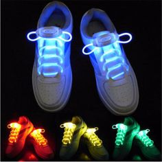 Two light emitters and two 32'' fiber optic laces included in a single set Suitable for any kinds of Shoes, including running shoes, boots and skates
