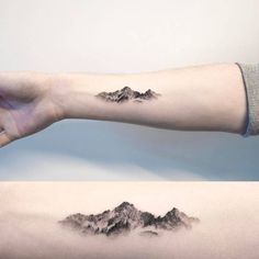 """1,845 Likes, 30 Comments - Small Tattoos (@small.tattoos) on Instagram: """"#Mountain #tattoo by @ilwolhongdam · Seoul  #littletattoos #smalltattoos #life #art #awesome…"""""""