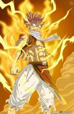 Fairy Tail Lightning fire dragon Natsu!