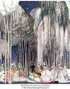 "Kay Nielsen's ""The Twelve Dancing Princesses"", 1913,  Dover Publications."