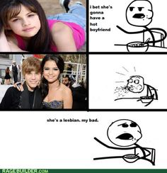 Selena is awesome, but seriously, JUSTIN BIEBER!!! You had more of my trust when started dating a werewolf....