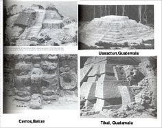 Most researchers have assumed that this pyramid was built by the Maya. Although this is the popular view, this pyramid was probably built by the Olmec. And the Maya probably built a new pyramid over the original Olmec pyramid. The person in the coronation scene was Governor  Under many pyramids found in Guatemala and Belize we find stucco-modeled jaguar pyramids. These pyramids with jaguar mask and large earrings predate all the Mayan pyramids. They are found at Uaxactun, Tikal and Cerros.