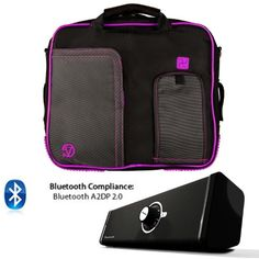PINDAR Messenger Shoulder Carrying Bag Durable Case (Purple Trim) For HP TouchPad, Slate 500, Slate 8, Slate 2 Tablet The Pindar Messenger Shoulder Bag was build Stylish, Slim and Protective.. Made out of High Quality Durable water-resistant nylong material that protects your device and accessories from bumps, dents and scratches!. Stream music for your Phone, Tablet, PC, or any Bluetooth enabled ... #VG-VANGODDY #CE