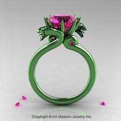 Maîtres de l'art 14K vert Ct 30 or rose Dragon par artmasters, $4259.00