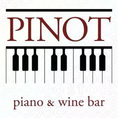 Pinot Wine and Piano bar logo — wine, vino, wine bar, restaurant
