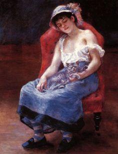 Jeune fille endormie, Auguste Renoir