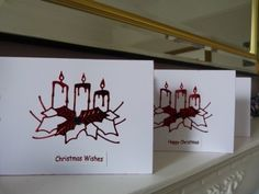 Pack of 4 Candle Christmas Cards £3.00