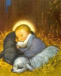 """""""And knew her not till she had brought forth her firstborn Son: and he called His Name JESUS. Christmas Scenes, Christmas Nativity, Christmas Pictures, Christmas Jesus, Christmas Baby, Vintage Christmas Cards, Vintage Holiday, Vintage Cards, Catholic Art"""