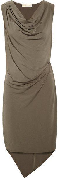 Draped Jersey Dress - neutral dress for a Soft Dramatic (Kibbe)
