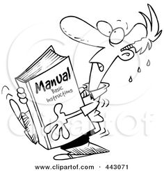 Cartoon Businessman Carrying A Heavy Manual Posters, Art