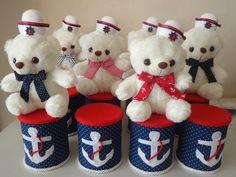 Lembrança de aniversário.Tema ursinho marinheiro