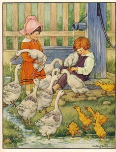 vintage bookplate print is from an illustration by Clara M. Burd (1873–1933)