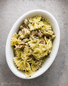Lemon Pesto Turkey Pasta Recipe | Simply Recipes
