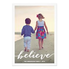BELIEVE | HOLIDAY PHOTO CARD
