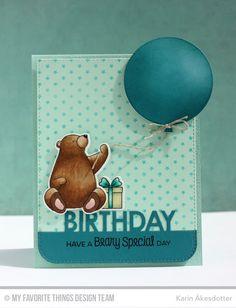 Birthday Bears, Blueprints 26 Die-namics - Karin Åkesdotter  #mftstamps