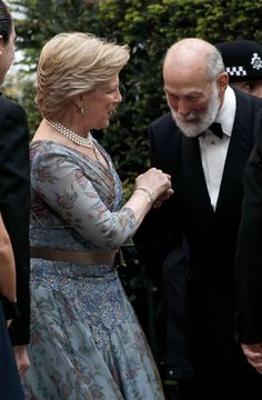 Queen Anne-Marie with Prince Michael of Kent (UK)