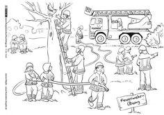In der Stadt - Feuerwehr - Klöpfer
