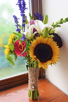 Make Your Own Wildflower Wedding Bouquet! Gorgeous!