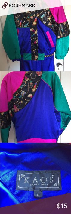 Vintage woman's leisure outfit by Andy Johns. Colorful vintage leisure outfit in like new condition. Nylon with lined pants. KAOS Other