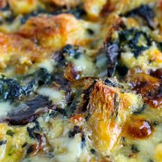The Foodie Physician: Dining with the Doc: Spinach, Mushroom and Gruyere Strata