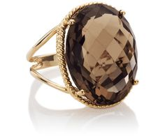 I want this!!!! Oval Smokey Quartz Ring in 14k Yellow Gold #BlueNile (size 8) I love love love this!!! -erica