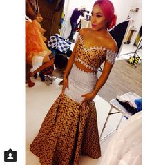 ankara and lace