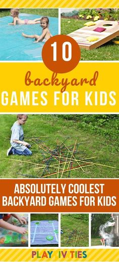 10 Absolutely Coolest Backyard Games for Kids!  Ever wonder why your kids aren't spending time in the backyard? Set up at least one of these backyard games for kids and they will never come in the house. Yes, these backyard games require some DIY and set up, but they are SO WORTH IT.    #BackyardGamesForKids  #BackyardFun  #DIYBackyardIdeas  #ActivitiesForKids  #ActivitiesForFamily  #OutsideActivities  #OutsideFunForKids  #10CoolestBackyardGames