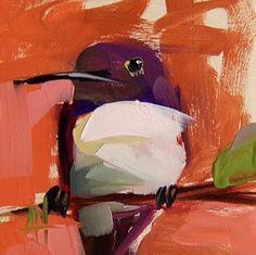 Angela Moulton - daily painting. http://angelamoulton.blogspot.com/2015/07/hummingbird-no-117-painting.html