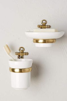 Discover unique Bath Hardware at Anthropologie, including the seasons newest arrivals. Beach House Bathroom, Home Office Storage, Creative Storage, Decorative Storage, Wall Storage, Home Reno, Bath Decor, Home Collections, Toothbrush Holder