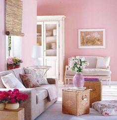 sala en rosa...