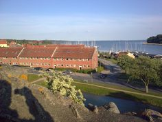 View from the Old Castle ruins on Nordhavn of Vordingborg town. Danish Flag, Castle Ruins, Denmark, Lgbt, Old Things, Photo And Video, Google, Travel, Viajes