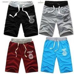 Plus Size Adjustable Men's Boy Cotton Shorts Pants Gym Trousers Sport Jogging Trousers Casual