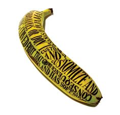 The customized banana below is made by Sarah King, who also makes great drawings of animals. Sarah King is part of the graphic design collec. Cool Typography, Typography Poster, Typography Design, Banana Types, Sarah King, Blog Art, Stefan Sagmeister, Banana Art, Fruit Art