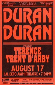 Duran Duran Poster from Cal Expo Amphitheater on 17 Aug 93: 11