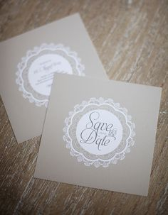 Elegance of Lace - Save the Date Karte