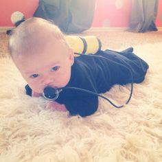 baby costume scuba diver DIY baby Halloween costume  baby boy scuba costume. brilliant.