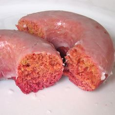 Glazed Baked Beet Donuts recipe from A Good Appetite blog.  These look pretty and blogster Kathy says they taste great.