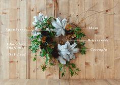 Floral Encyclopedia with Moon Canyon Design: An Autumnal Wreath