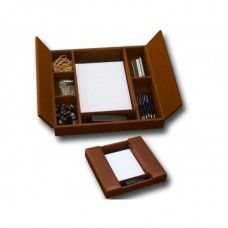 Desk Supplies> Desk Set / Conference Room Set >Organizers: Rustic Brown Enhanced Conference Room Organizer