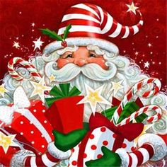 Choose your favorite christmas paintings from millions of available designs. All christmas paintings ship within 48 hours and include a money-back guarantee. Vintage Christmas Cards, Santa Christmas, Winter Christmas, Christmas Holidays, Christmas Crafts, Christmas Decorations, Father Christmas, Primitive Christmas, Country Christmas