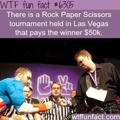 Rock Paper Scissors tournament - WTF fun facts - http://didyouknow.abafu.net/facts/rock-paper-scissors-tournament-wtf-fun-facts