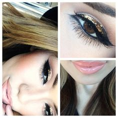 """#ShareIG Eyeliner look inspired by @Lorelei Altoehl Altoehl Cakes and @Hollie Baker A L E Y 