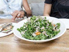 kale salad:sun gold tomoatoes / fresh corn / avocado / sunflower sprouts…