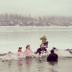Special Olympics Montana-Penguin Plunge. Whitefish, MT
