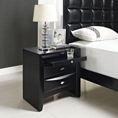 Bedside Drawer Nightstand Modern Antique Wood Solid Storage Bedroom Furniture #Modway #Modern #Bedside #Drawer #Nightstand #Furniture