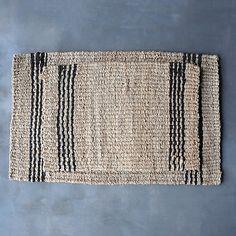 Vertical Stripe Jute Doormat
