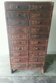 Antique Small Drawers Spice Drawers Wooden Porcelain Buttons 20s Handmade Made in Germany